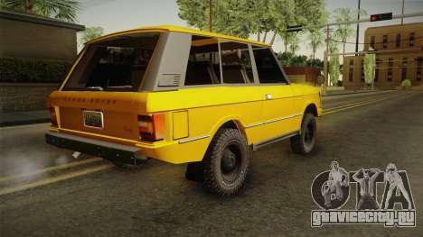 Land Rover Range Rover 1978 для GTA San Andreas вид слева
