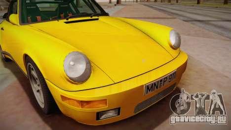 RUF CTR Yellowbird (911 930) 1987 для GTA San Andreas вид сзади слева