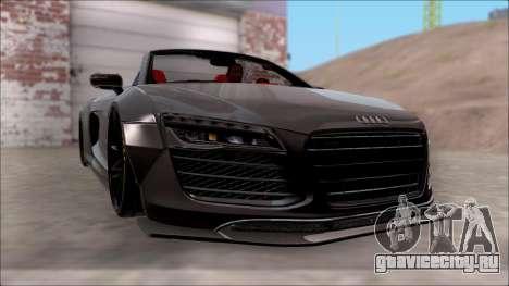Audi R8 Spyder 5.2 V10 Plus LB Walk для GTA San Andreas вид сзади слева
