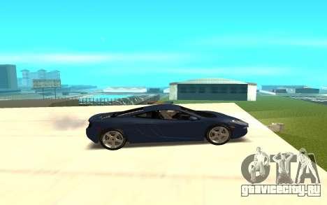 McLaren для GTA San Andreas вид слева