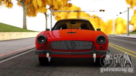 Mercedes 190 S для GTA San Andreas вид сзади