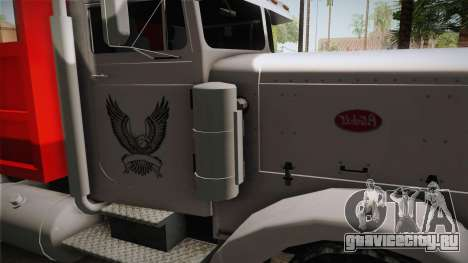 Peterbilt 351 Dump Truck для GTA San Andreas вид изнутри
