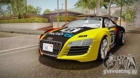 Audi Le Mans Quattro 2005 v1.0.0 Dirt для GTA San Andreas вид снизу