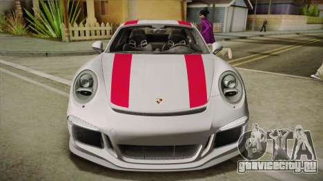Porsche 911 R (991) 2017 v1.0 Red для GTA San Andreas вид сзади