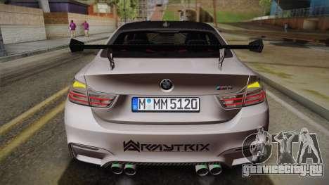 BMW M4 F82 2014 для GTA San Andreas вид сверху