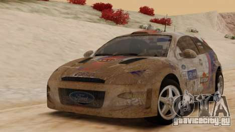 Ford Focus Touring Car для GTA San Andreas вид сзади слева