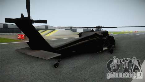 CoD 4: MW - UH-60 Blackhawk RAF Remastered для GTA San Andreas вид слева
