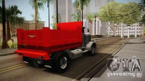 Peterbilt 351 Dump Truck для GTA San Andreas вид справа