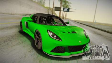 Lotus Exige Sport 350 Roadster Type 117 2014 для GTA San Andreas