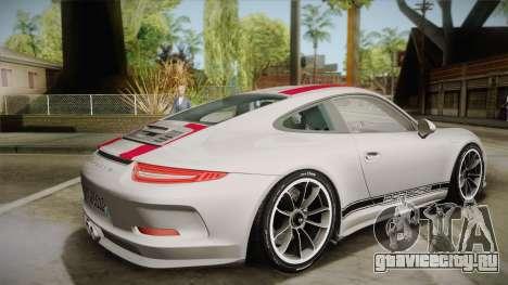 Porsche 911 R (991) 2017 v1.0 Red для GTA San Andreas вид слева