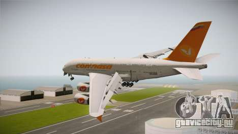 Airbus A380-861 Conviasa для GTA San Andreas вид слева
