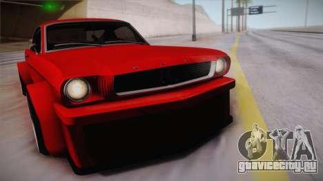 Ford Mustang Fastback 289 Wide Body 1966 для GTA San Andreas вид сзади слева