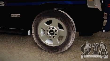 Ford Ranger Police для GTA San Andreas вид сзади