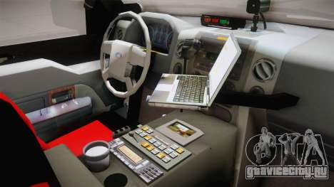 Ford Ranger Police для GTA San Andreas вид изнутри