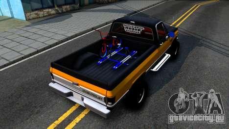 Chevrolet Silverado K-10 2500 1986 для GTA San Andreas вид сзади
