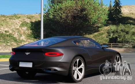 Bentley EXP 10 Speed 6 для GTA 5 вид сзади слева