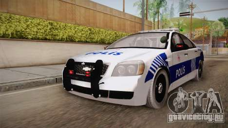 Chevrolet Caprice Turkish Police для GTA San Andreas вид сзади слева