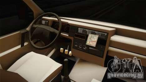 Volkswagen T4 Kombi Vatrogasci для GTA San Andreas вид изнутри