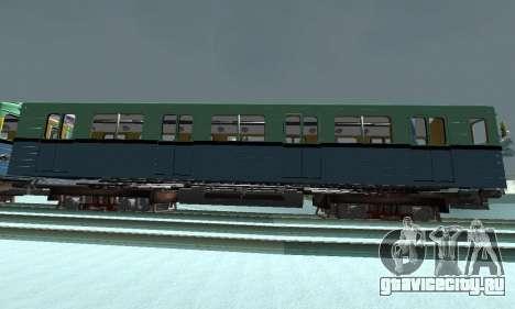 Состав типа Е ST_Metrostroi для GTA San Andreas вид слева