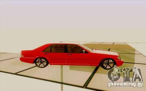 Mercedes-Benz s600 для GTA San Andreas вид слева