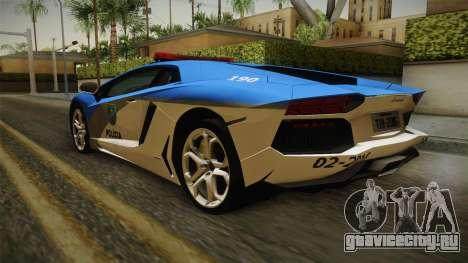 Lamborghini Aventador LP700-4 PMERJ для GTA San Andreas вид слева