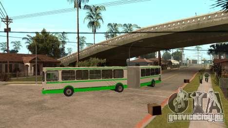 ЛиАЗ-6212 для GTA San Andreas вид сзади слева