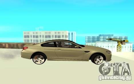 BMW M6 F13 для GTA San Andreas вид слева