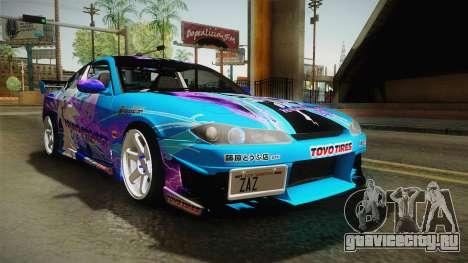 Nissan Silvia S15 Cirno Touho Project Itasha для GTA San Andreas вид справа