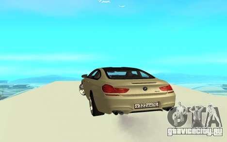 BMW M6 F13 для GTA San Andreas вид сзади слева