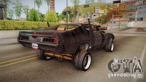 Ford Gran Torino Mad Max для GTA San Andreas вид сзади слева