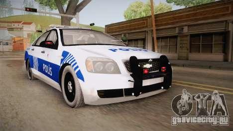 Chevrolet Caprice Turkish Police для GTA San Andreas