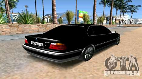 BMW 730 E38 для GTA San Andreas вид сзади слева