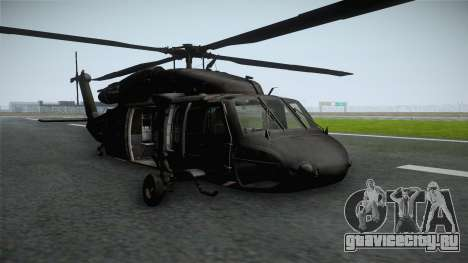 CoD 4: MW - UH-60 Blackhawk RAF Remastered для GTA San Andreas вид сзади слева
