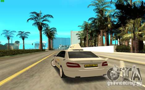 Mercedes-Benz E500 W212 для GTA San Andreas вид сзади слева