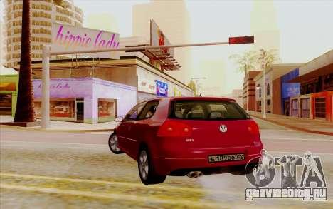 Volkswagen Golf GTI для GTA San Andreas вид слева