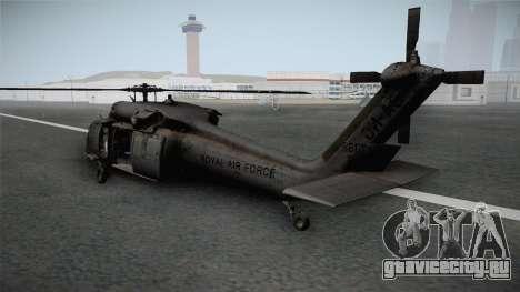 CoD 4: MW - UH-60 Blackhawk RAF Remastered для GTA San Andreas вид справа