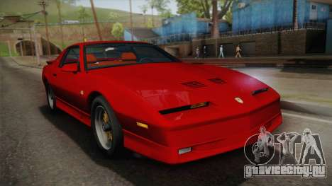 Pontiac Firebird Trans Am 1987 для GTA San Andreas