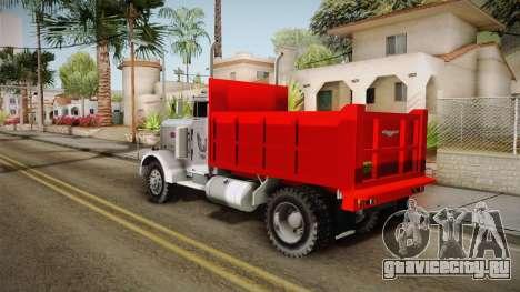 Peterbilt 351 Dump Truck для GTA San Andreas вид слева