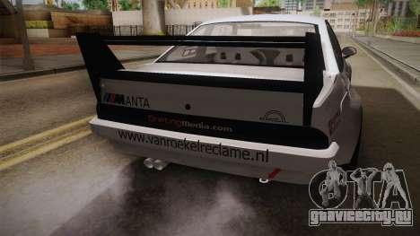 Opel Manta Drift для GTA San Andreas вид сбоку