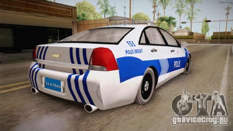 Chevrolet Caprice Turkish Police для GTA San Andreas вид справа