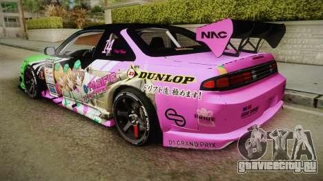 Nissan Silvia S14 D1GP Itasha для GTA San Andreas вид слева