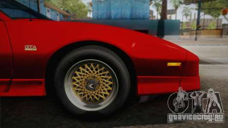 Pontiac Firebird Trans Am 1987 для GTA San Andreas вид сзади слева