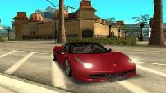 Ferrari 458 Italia для GTA San Andreas