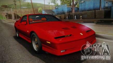 Pontiac Firebird Trans Am 1987 для GTA San Andreas