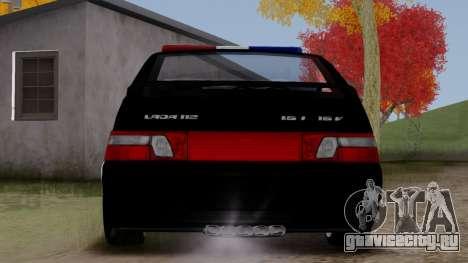 ВАЗ 2112 POLICE для GTA San Andreas вид справа