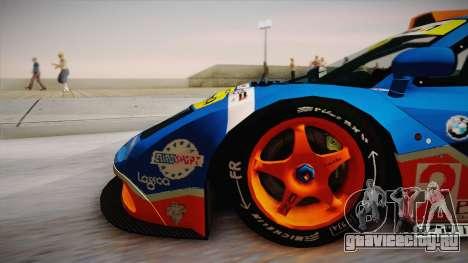 1996 Gulf McLaren F1 GTR (BPR Series) для GTA San Andreas вид сзади слева