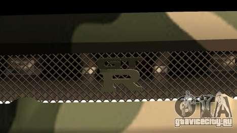 Nissan GTR R34 GTR CLAN для GTA San Andreas для GTA San Andreas вид снизу