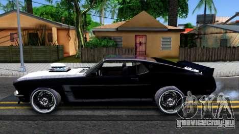 Ford Mustang Boss 557 для GTA San Andreas вид слева