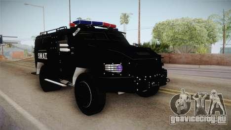 New Enforcer для GTA San Andreas вид сзади слева