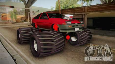 Toyota Corolla GT-S Monster Truck для GTA San Andreas